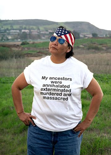 Shelley Niro, a member of the Mohawk Nation, Iroquois Confederacy, Turtle Clan, Six Nations Reserve. The Shirt (2003) is a series of six photographs.