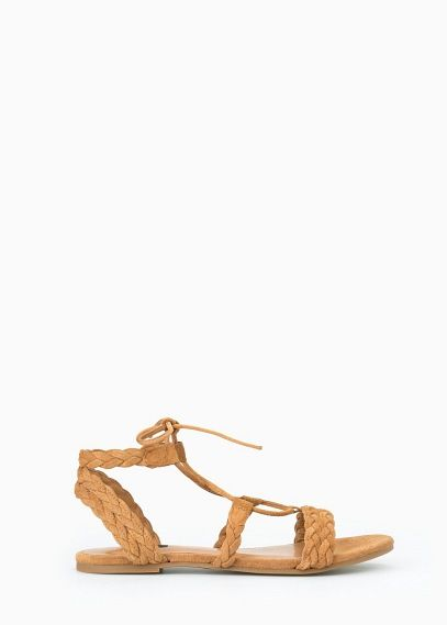 Sandalia serraje trenzada | MANGO