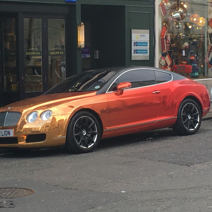 I've never seen a Bentley this colour before.