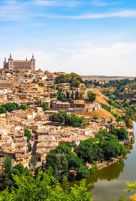 Toledo, Spain. First tried paella here - it was so good!