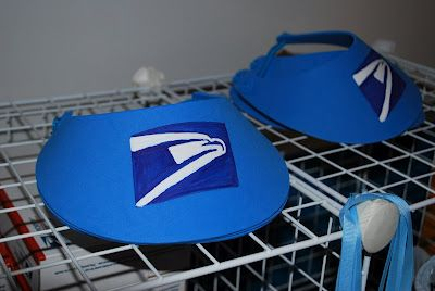 I like these for community helpers week...postal carrier. Foam hat from craft or dollar store + printed emblem.