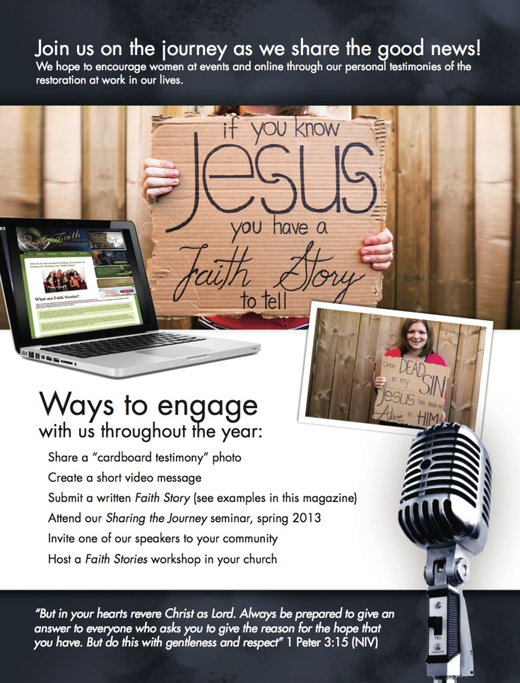 Love encouraging women to share their faith story!
