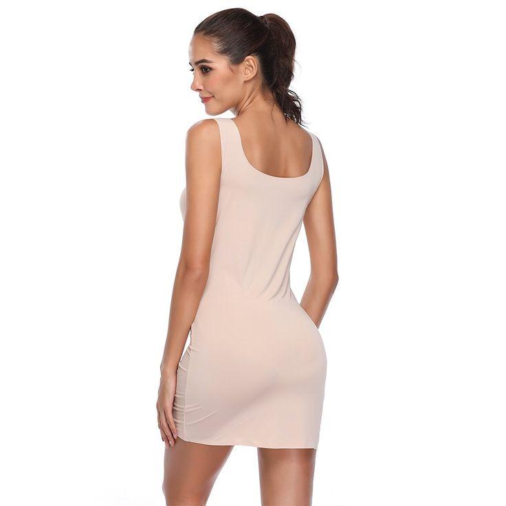 Joyshaper Control Dress Slip for Women Full Slips Black