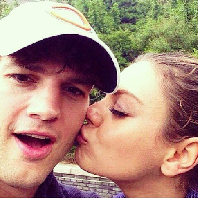 Ashton and Mila Are the Cutest Social Media Couple