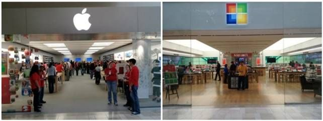 Read AMP Agency's view on Microsoft copying Apple's store design.