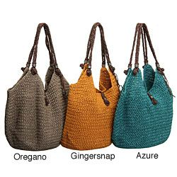 crochet tote ~ rivals the best designer bag and you really can match the color to anything.