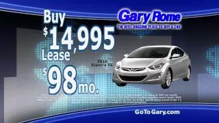 New Year's Resolutions at Gary Rome Hyundai in Holyoke, MA  Lease a Hyundai Sonata or a Hyundai Elantra for only $98/month!