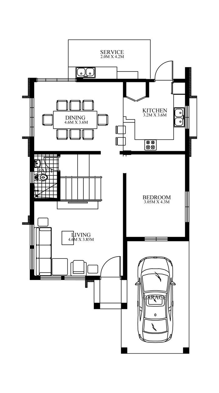 Home Design Plan 8x14m With 4 Bedrooms Home Design With Plan Home Design Plan House Layout Plans Contemporary House Design