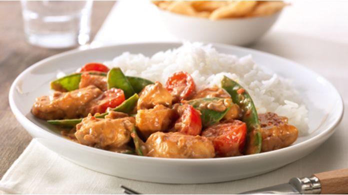 Thaise curry met peultjes en rijst recept