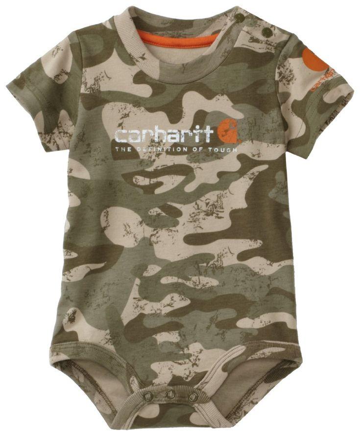 Carhartt Baby-boys Infant Camo Short Sleeve Bodyshirt