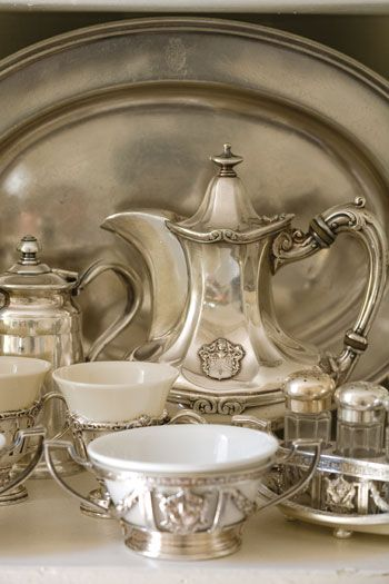 The silver - serving set - vintage - style - classic - luxury - antique - amazing - beautiful - classy - décor
