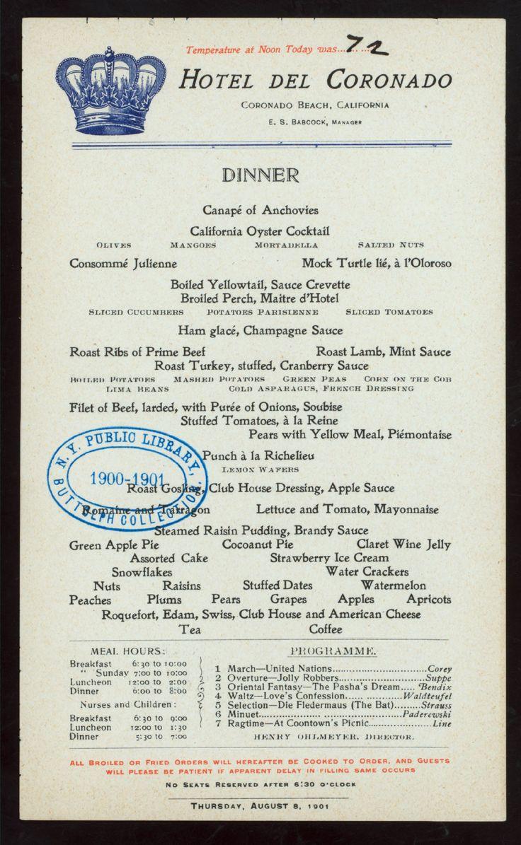71 best Old Restaurant Menus images on Pinterest | Vintage menu ...