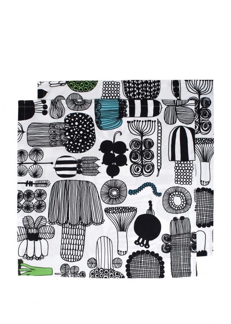 Puutarhurin-lautasliina | Lautasliinat | Marimekko