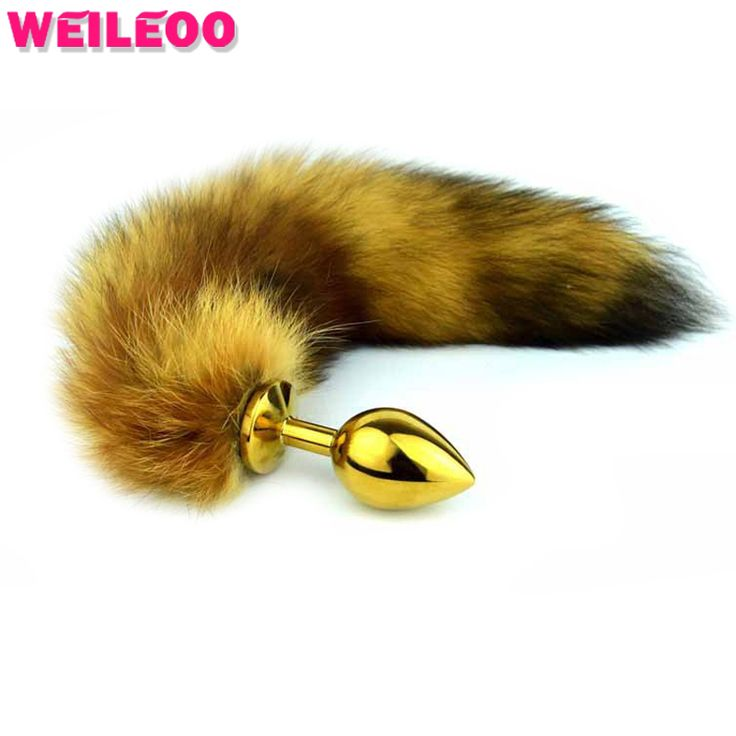 3 dimensioni marrone gatto coda coda spina anale fox tail butt plug anale giocattoli del sesso gay giocattoli per le coppie buttplug anale giocattolo