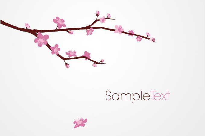 Cherry Blossom Tree Clip Art | ... tree branch vector free ...