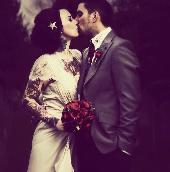 Tattooed brides are no different from other brides. If anything they are more beautiful. In my opinion!