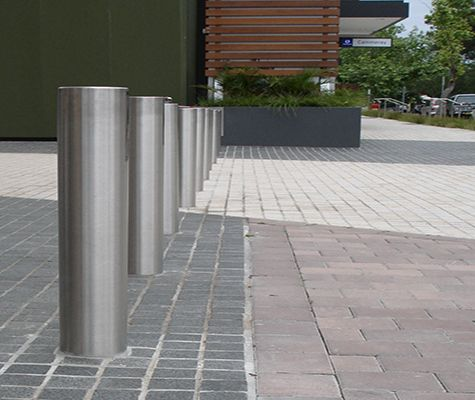 Vogue shopping centre bollards. Identical to ATM bollards which offer higher impact resistance to impact and cutting