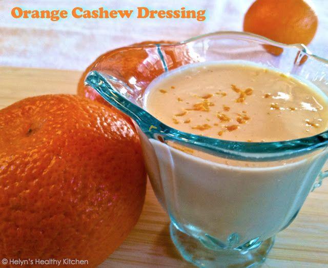 Oil- Free Orange Cashew Dressing