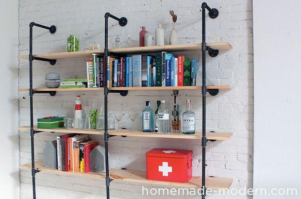 Billedresultat for homemade metal shelves