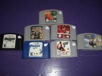 7 games for Nintendo 64 N64 XG2 WCW NWO Revenge Madden NFL 2002 WWF At FREE SHIPPING