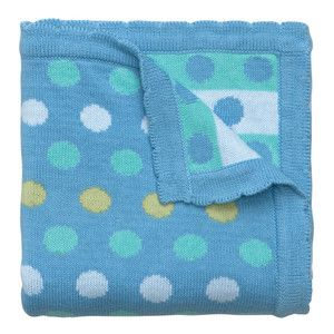Blueberry spot knitted baby blanket