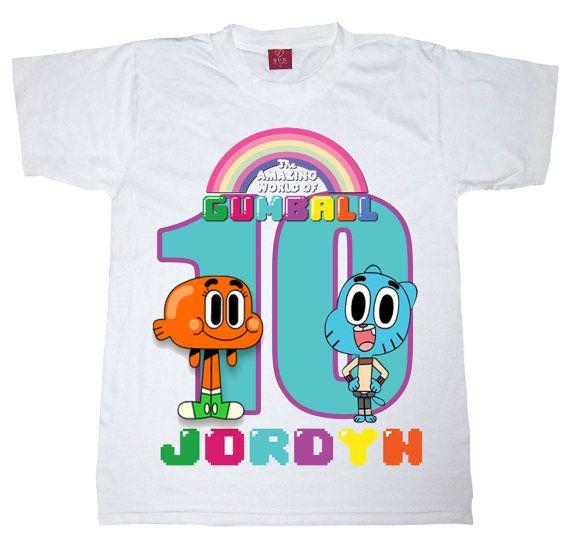 asombroso mundo de la camisa del cumpleaños de gumball