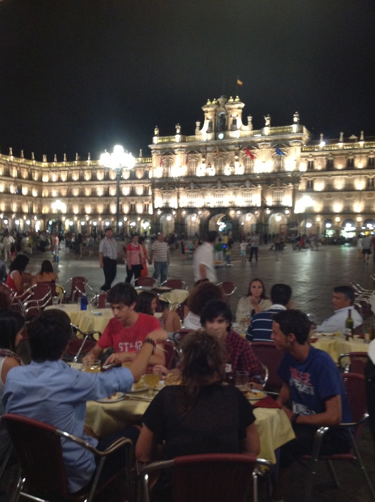 Last night with Eric in Salamanca. We hung out at the main plaza and watched all the activities.  It was lovely.