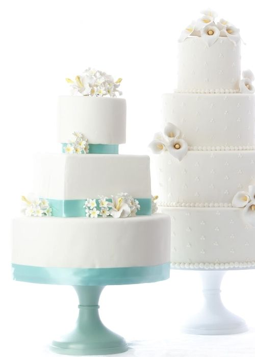 14 Inch Something Blue White Wedding Cake Stands By Sarah S Sarahsstands Weddings Weddingcake Cakestand