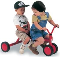 """"""" Primero viene el triciclo, rojo, cómodo, seguro. La sensación de crecer sobre él, la satisfacción de volverse grande mientras el juguete siempre se vuelve pequeño y las rodillas sobresalen sobre los costados para no golpear contra el manubrio. Se empujan los pedales con alegría loca."""