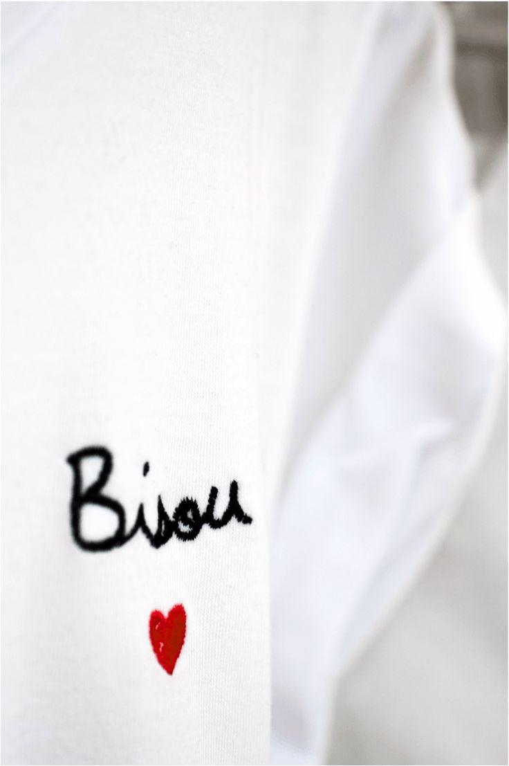 Tee Shirt Brodé Bisou / Balzac Paris