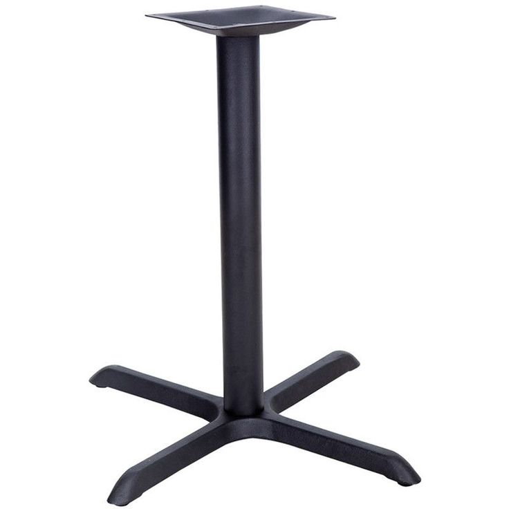 Restaurant Table X-Base with Table Height Column