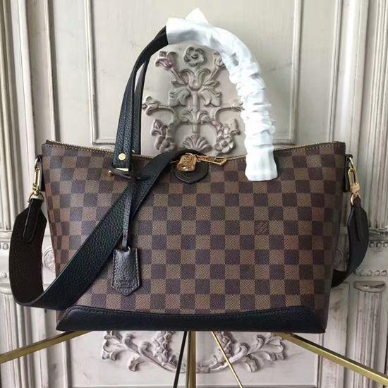 63a1d605cf5 Louis Vuitton N41014 Hyde Park Shoulder Bag Damier Ebene Canvas ...