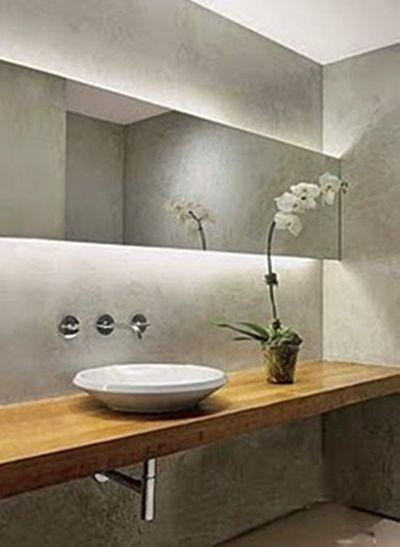 25+ melhores ideias sobre Banheiro em cimento no Pinterest  Chuveiro de conc -> Cuba Para Banheiro Triangular