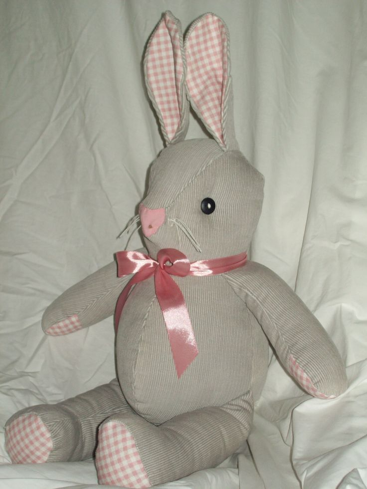 A toy bunny (Velveteen rabbit) for a baby girl