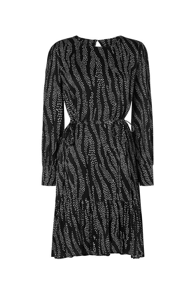 Bonnie Dress Middellange soepelvallende jurk met h…