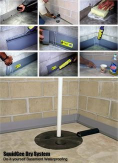 DIY Basement Waterproofing Kit - Dry up your wet basement like a PRO! It's Easy! Save big money!