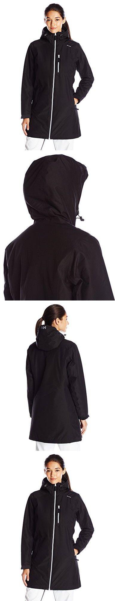 Helly Hansen Women's Long Belfast Insulated Winter Jacket, Black, XX-Large