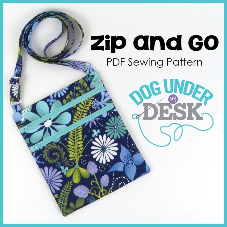 Zip and Go Bag pattern from Dog Under my Desk