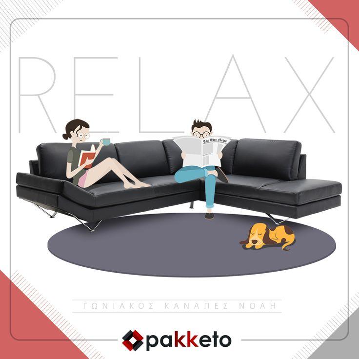 Επιτέλους Παρασκευή! Χαλαρώνεις στον αναπαυτικό γωνιακό καναπέ σου Noah! Απόκτησέ τον σε σούπερ τιμή #pakketo εδώ https://www.pakketo.com/goniakos-kanapes-me-pu-xroma-mauro