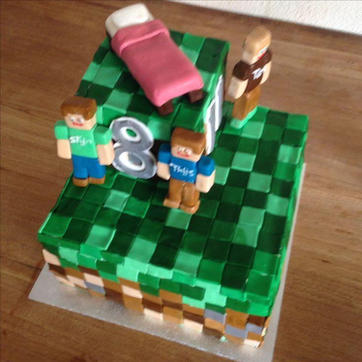 Minecraft taart!