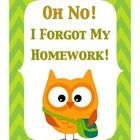 This is a ready-to-go Forgotten Homework Binder.  Have your students record each time they for get their homework in this binder.  It instantly cre...