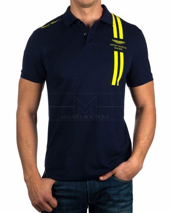 Navy Blue - Hackett Aston Martin Polo Shirts - TC DBL Str