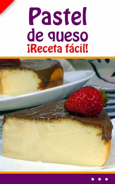Pastel de queso. ¡Receta fácil!
