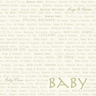 "Dinglefoot's Scrapbooking - Oh Baby Words 12"" x 12"" Scrapbook Paper, $0.80 (http://www.dinglefoot.com/oh-baby-words-12-x-12-scrapbook-paper/)"