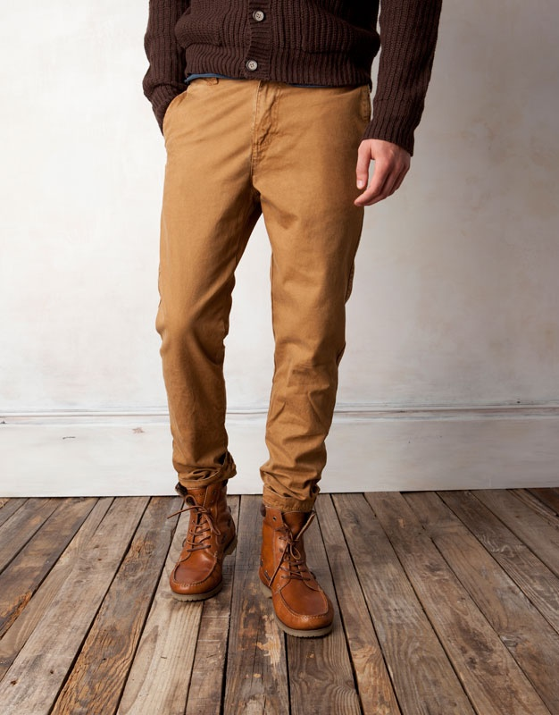 Moda Pull & Bear pantalones hombre tipo chino