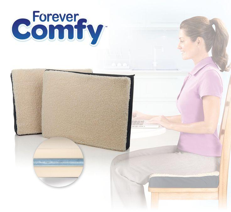 Met de Forever Comfy zijn deze rugklachten verleden tijd! Door de revolutionaire combinatie van schuim en gel zorgt de Forever Comfy voor een subtiele laag tussen u en uw stoel. Hierdoor voelt het zitten een stuk comfortabeler aan en kunt u met gemak langer blijven zitten zonder enige klachten.