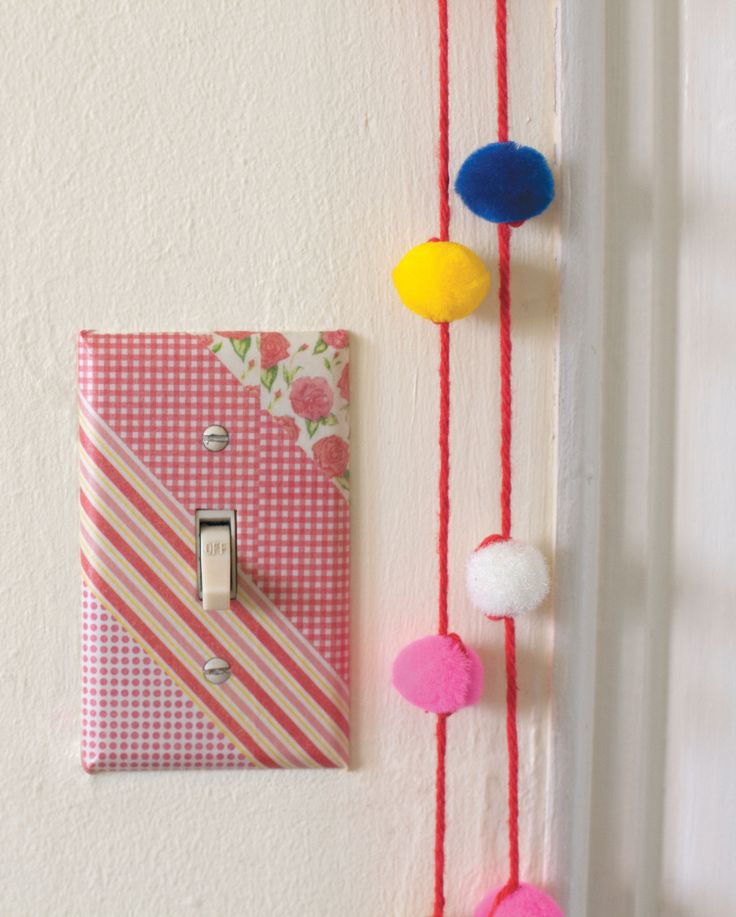 Ideal for rented spaces: a washi tape switch plate.