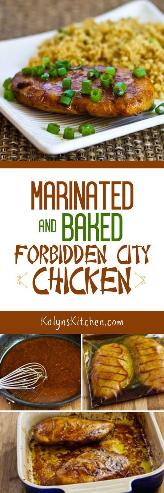 Marinated and Baked Forbidden City Chicken is an easy and tasty dinner ...