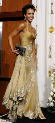 Jessica Alba/Versace..this is such a beautiful dress and love the color~