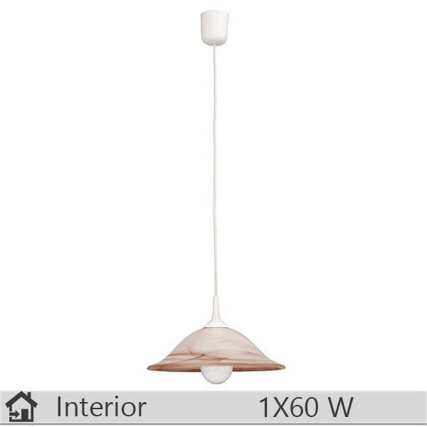 Pendul iluminat decorativ interior Rabalux, gama Alabastro, model 3955